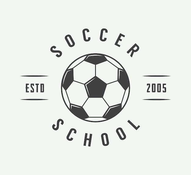 Logo De Football Ou De Football, Emblème, Badge. Vecteur Premium