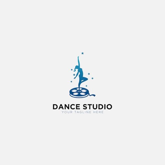 Logo De Formation De Studio De Danse Vecteur Premium