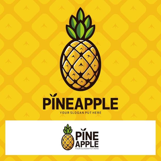 Logo De Fruits Ananas Vecteur Premium
