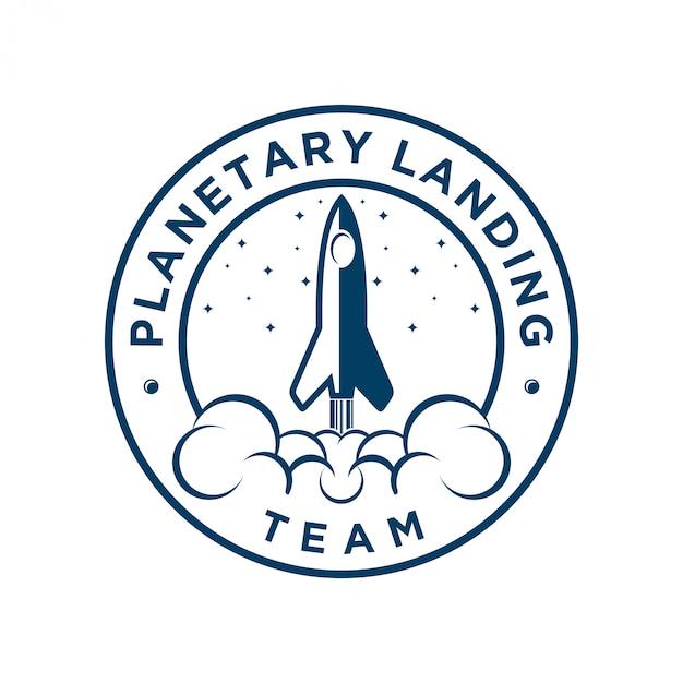 Logo de fusée pour les compagnies aériennes ou icône web Vecteur Premium