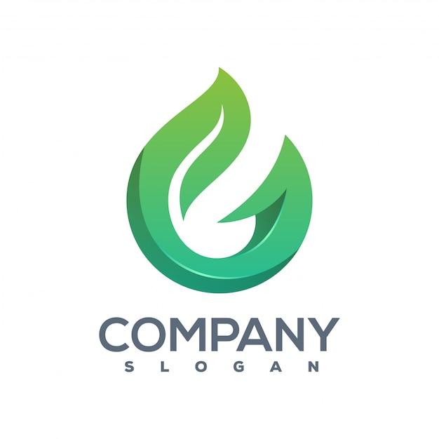 Logo g leaf prêt à l'emploi Vecteur Premium