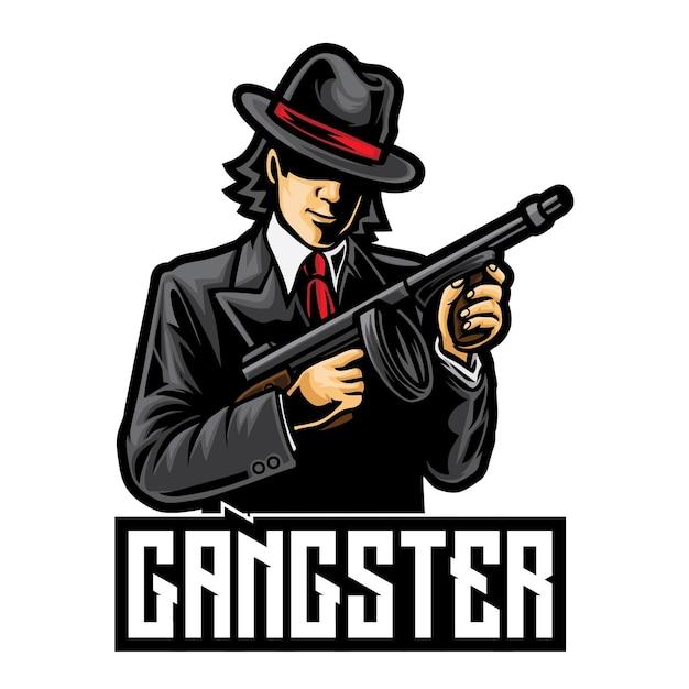 Logo De Gangster Mafia Esport Vecteur Premium