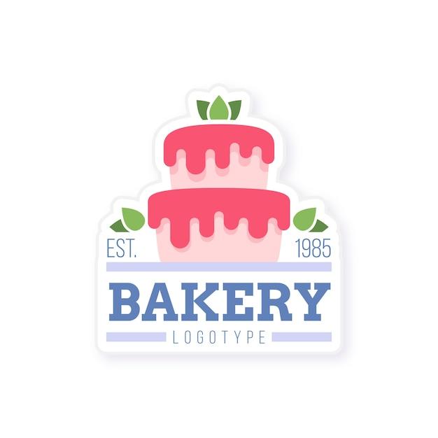 Logo De Gâteau De Boulangerie Sucré Vecteur Premium