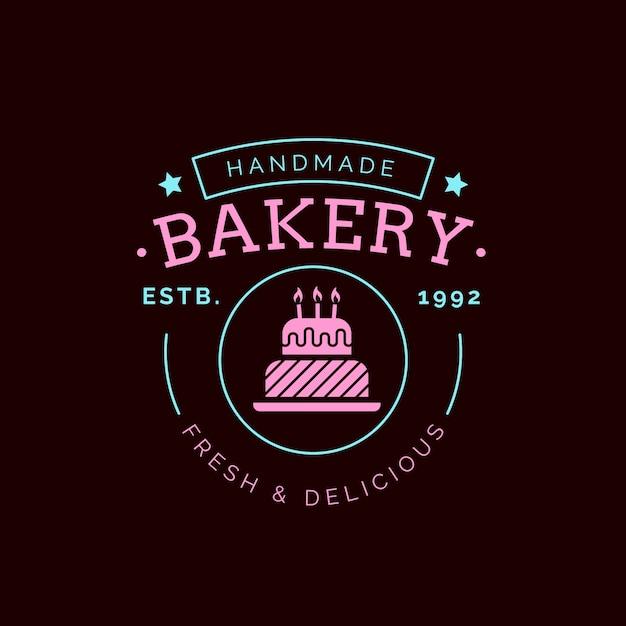 Logo De Gâteau De Boulangerie Vecteur Premium