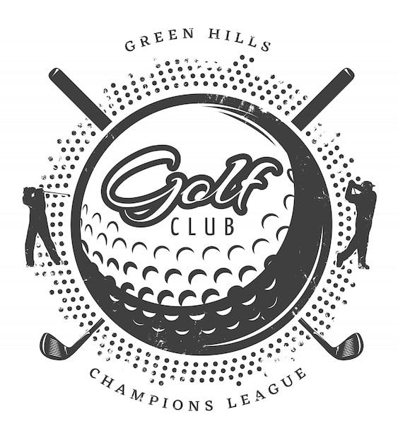 Logo De Golf Vintage Vecteur gratuit