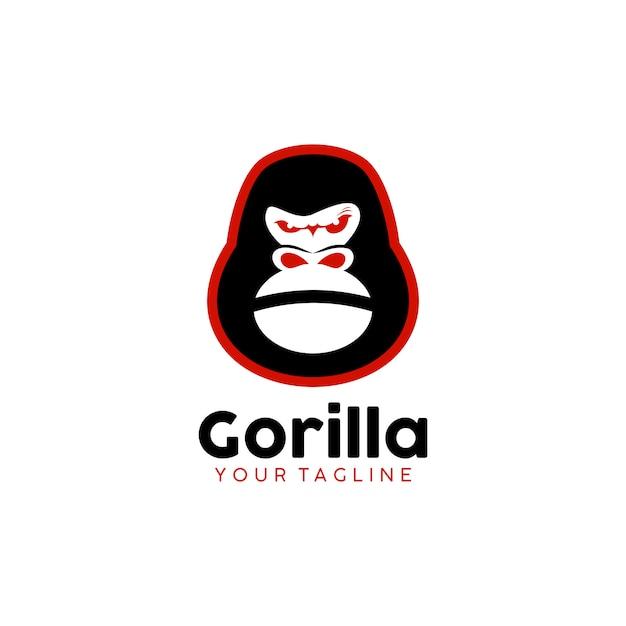 Logo gorilla Vecteur Premium