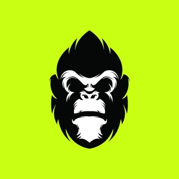 Logo de gorille premium Vecteur Premium