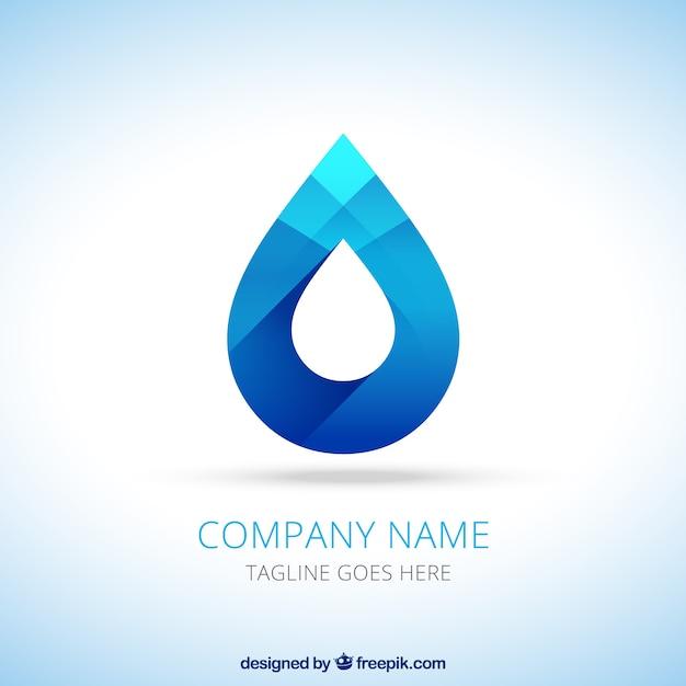 Logo goutte d'eau Vecteur gratuit