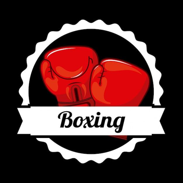 Logo Graphique D'insigne De Boxe Vecteur gratuit