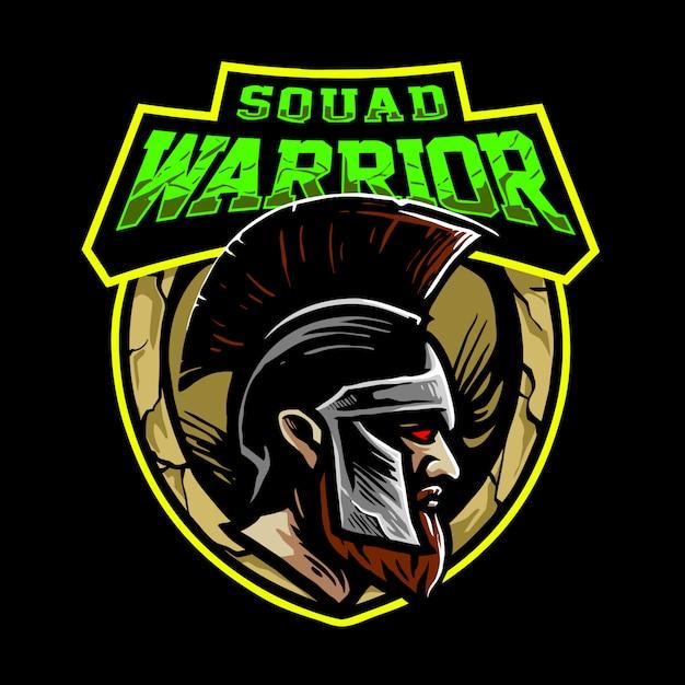 Logo de guerrier d'escouade Vecteur Premium