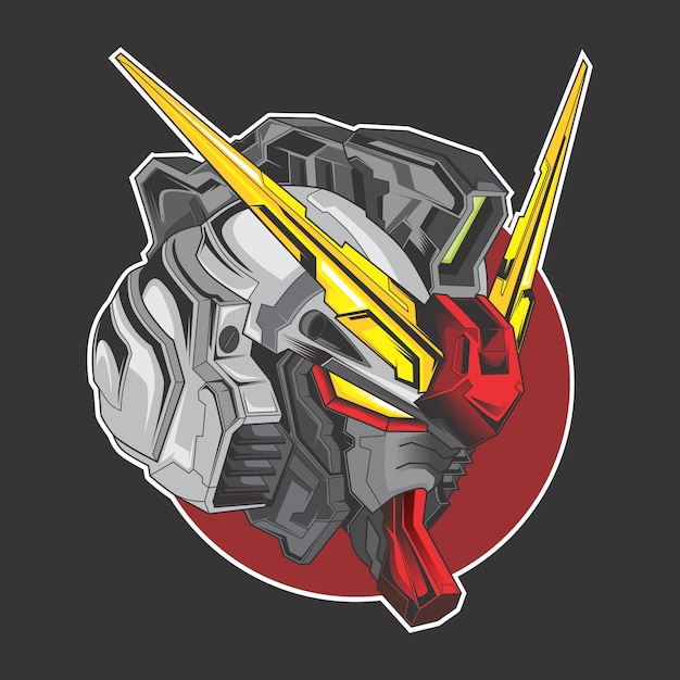 Logo Gundam Vecteur Premium