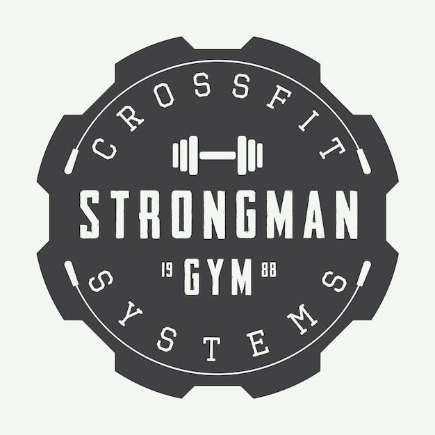 Logo De Gym Dans Un Style Vintage. Vecteur Premium