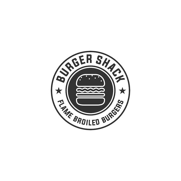 Logo hamburger Vecteur Premium