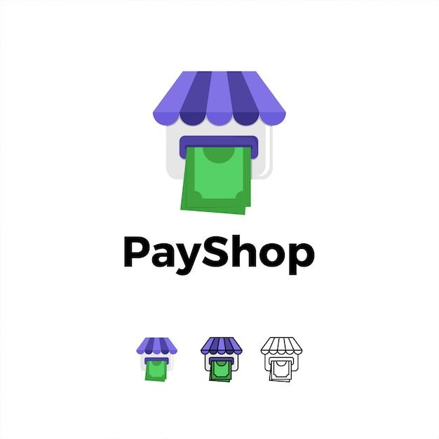 Logo Icône De Paiement En Ligne Vecteur Premium