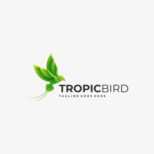 Logo Illustration Dégradé D'oiseaux Coloré. Vecteur Premium