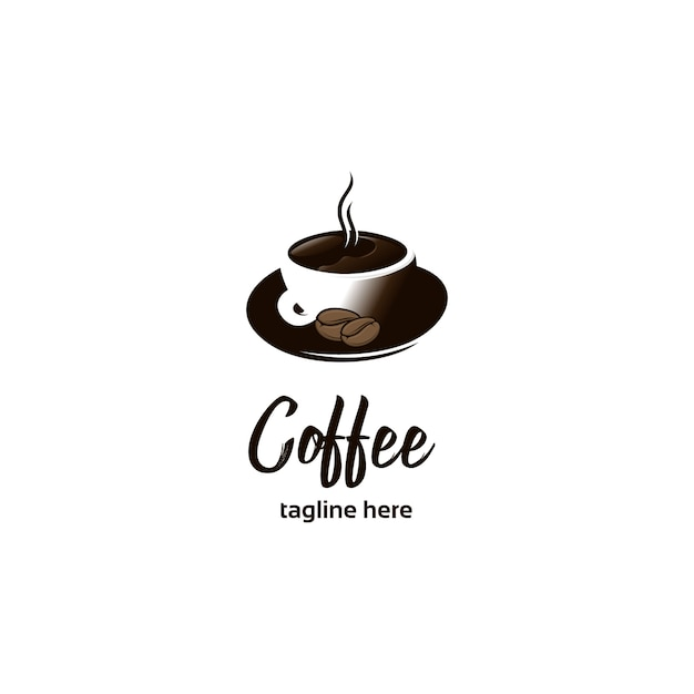 Logo d'illustrations de tasse à café Vecteur Premium