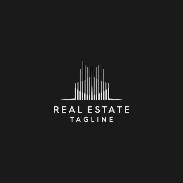 Logo immobilier premium Vecteur Premium