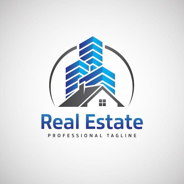 Logo immobilier Vecteur Premium