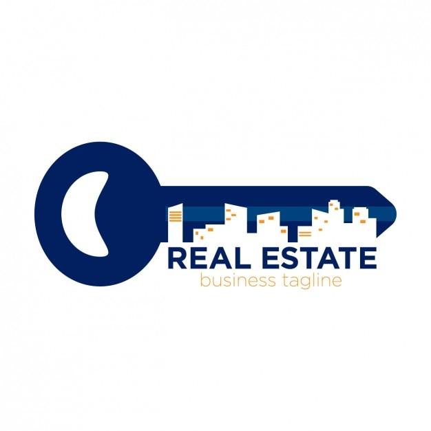 Logo Immobilière Sous Forme Clé Vecteur gratuit