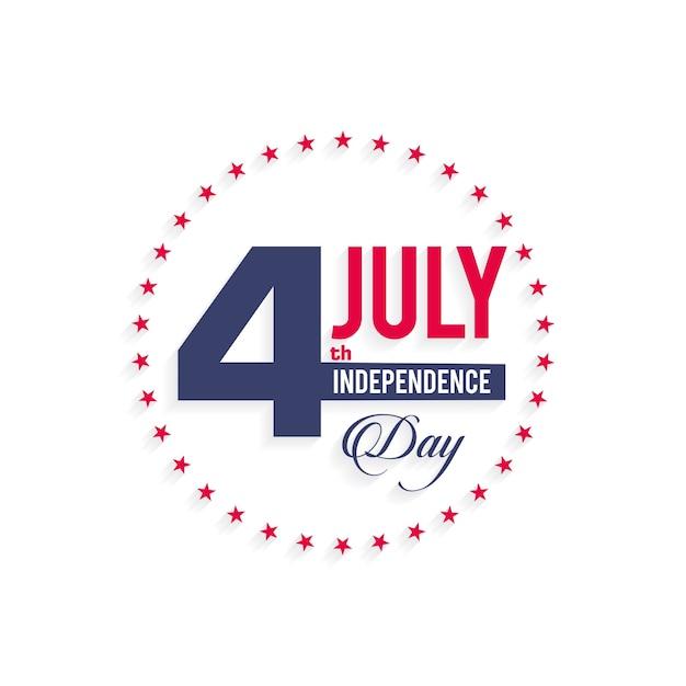 Logo de l'indépendance et logo de badge avec drapeau américain Vecteur gratuit