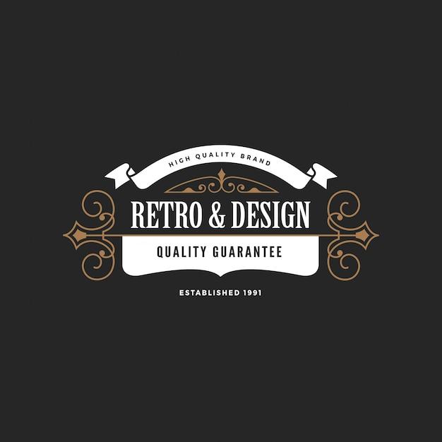 Logo Insigne Vintage Vecteur gratuit