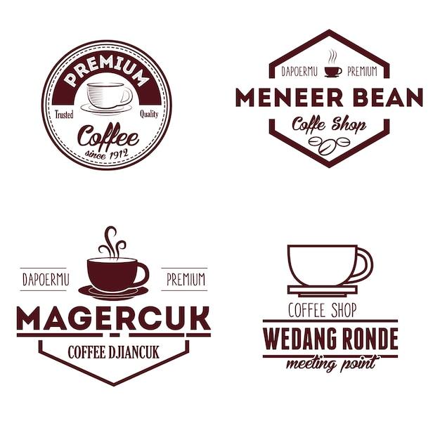 Logo et insignes de café Vecteur Premium