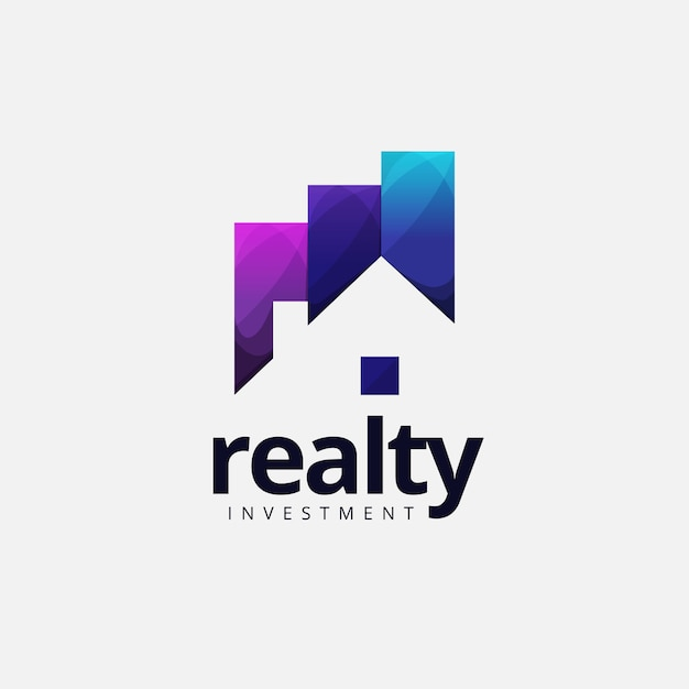 Logo de l'investissement immobilier Vecteur Premium