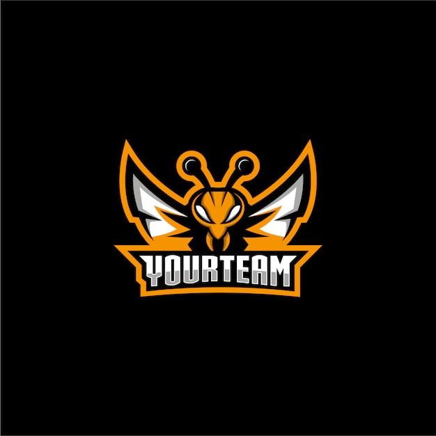 Logo De Jeu D'abeille Vecteur Premium