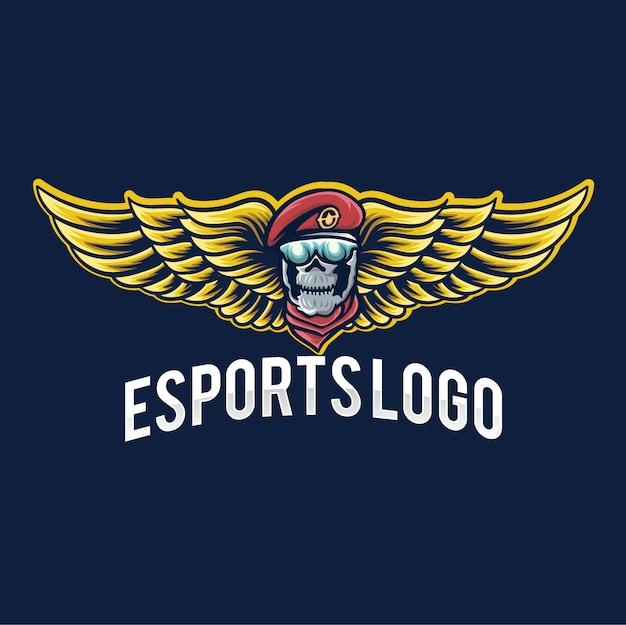 Logo de jeu esport army Vecteur Premium