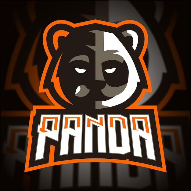 Logo De Jeu Esport Tête De Panda Vecteur Premium