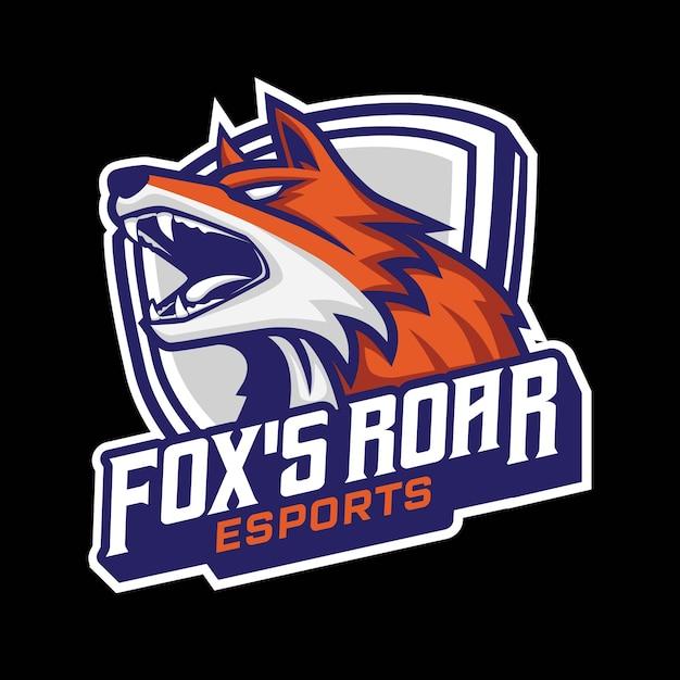 Logo De Jeu Fox Esport Mascot Vecteur Premium