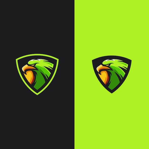 Logo de jeu mascotte aigle Vecteur Premium