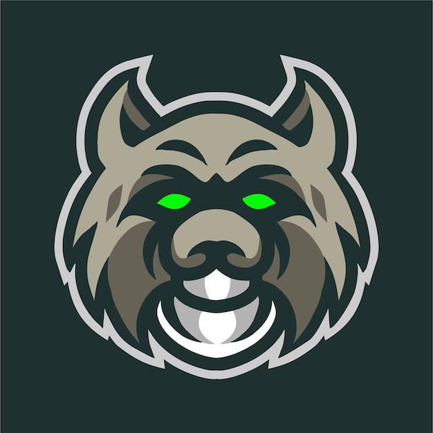 Logo De Jeu De Mascotte Tête De Bobcat Vecteur Premium