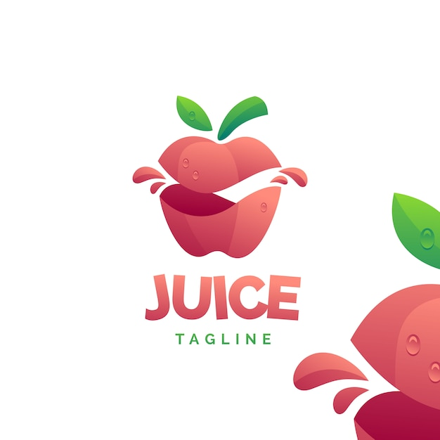 Logo de jus de pomme Vecteur Premium