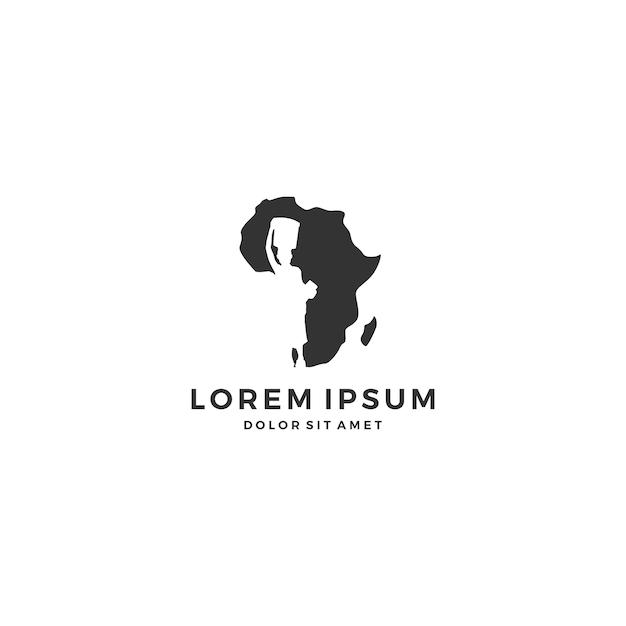 Logo De Kid Enfant Afrique Vecteur Premium