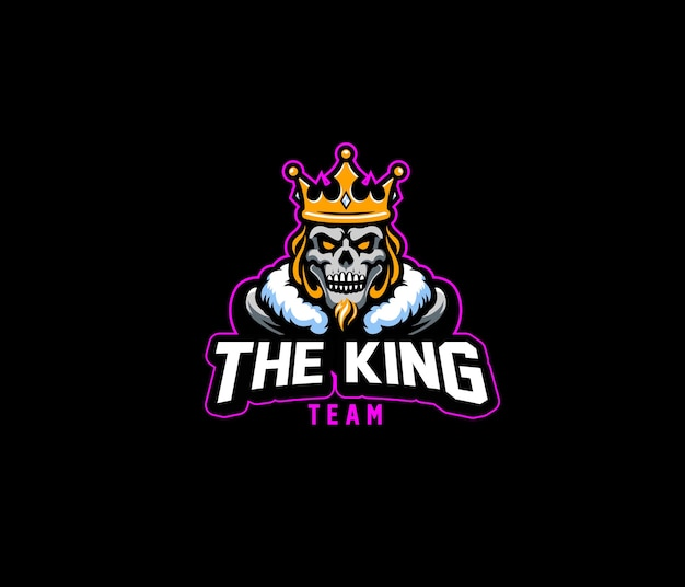 Le Logo King Team Esport Vecteur Premium