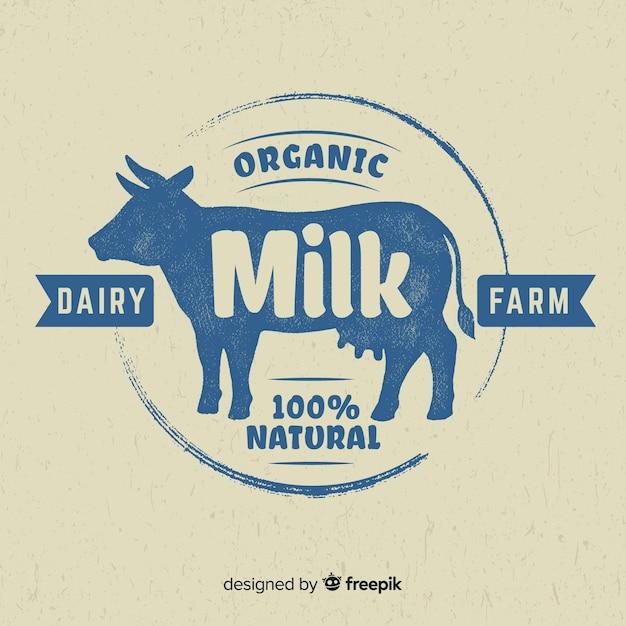 Logo Lait Silhouette Vache | Vecteur Gratuite