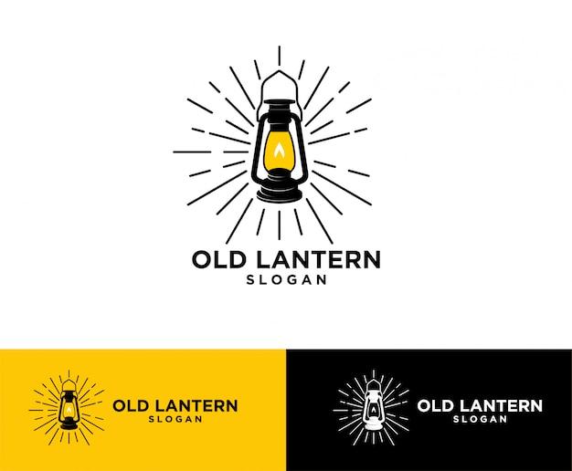 Logo Lanterne Vintage Vecteur Premium