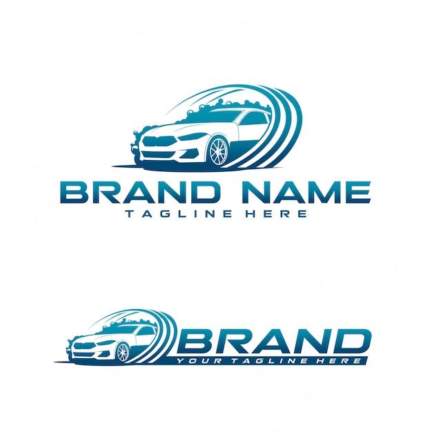 Logo De Lavage De Voiture Vecteur Premium