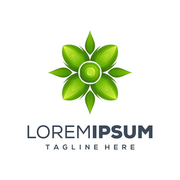 Logo leaf prêt à l'emploi Vecteur Premium