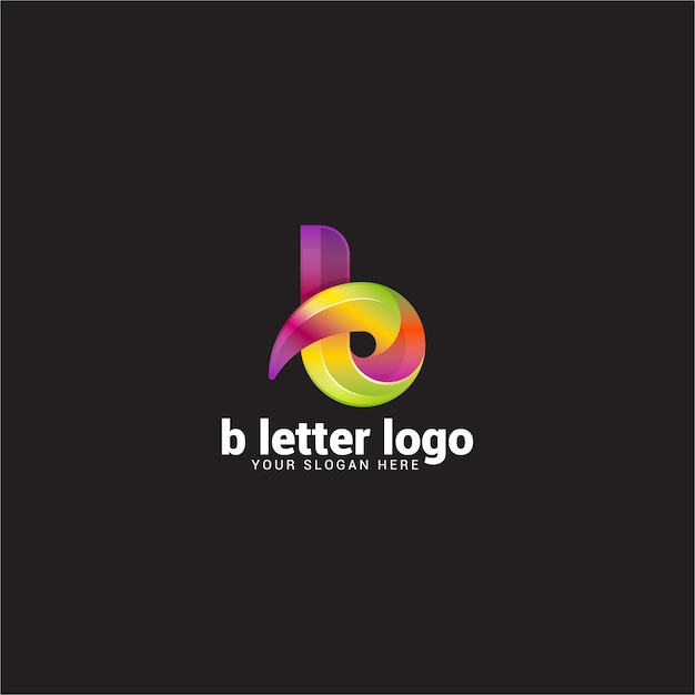 Logo De Lettre B Vecteur Premium