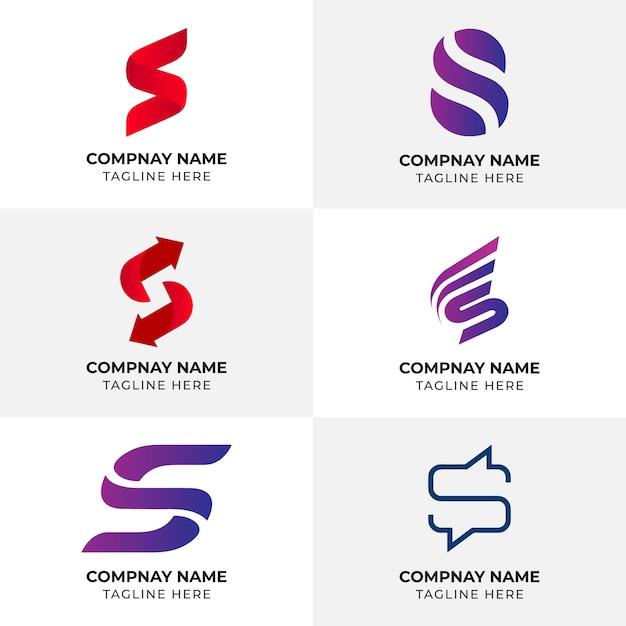Logo lettre s | modèle de logo | logo de l'entreprise | logo abstrait unique créatif Vecteur Premium