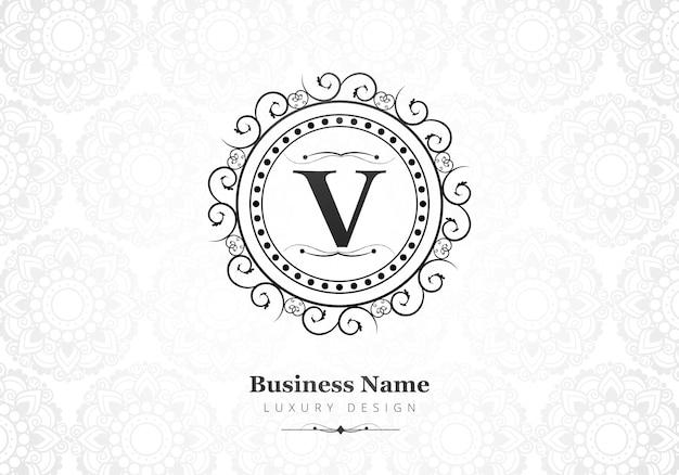 Logo De Lettre V De Luxe Premium Pour Entreprise Vecteur gratuit