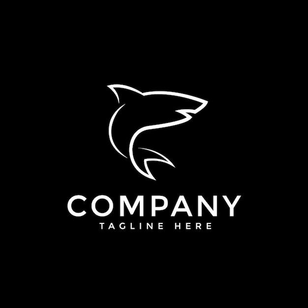 Logo De Ligne De Requin Vecteur Premium