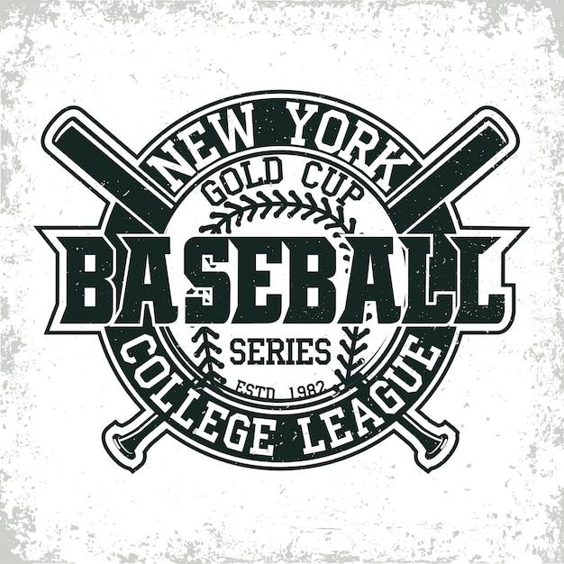 Logo De La Ligue De Baseball Vecteur Premium