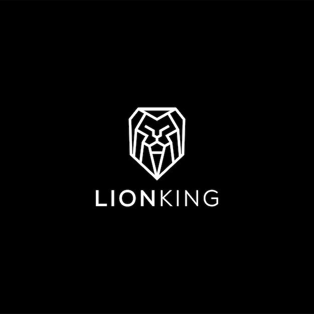 Logo De Lion De Luxe Professionnel En Noir Et Blanc Vecteur Premium