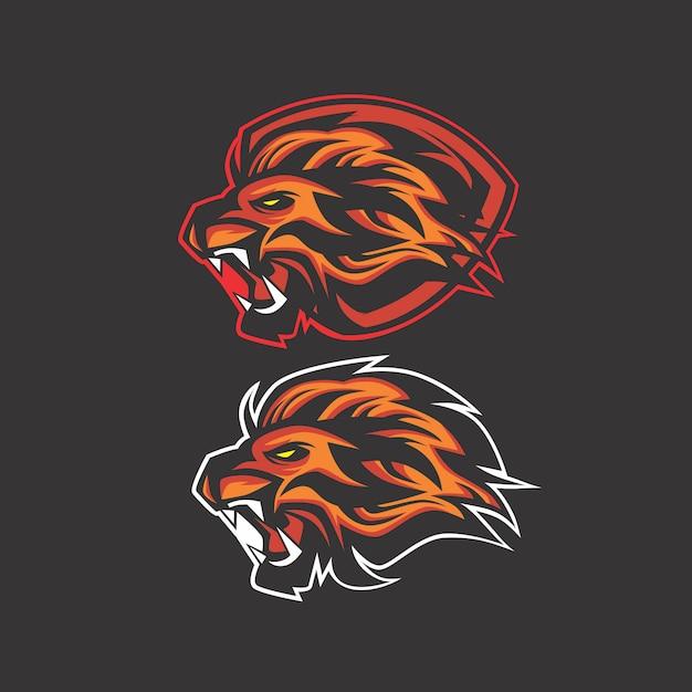 Logo Lion Vecteur Premium