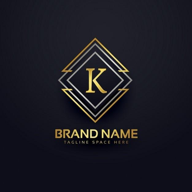 Logo de luxe pour la lettre k Vecteur gratuit