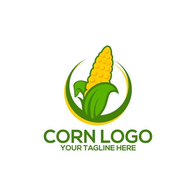 Logo De Maïs Vecteur Premium