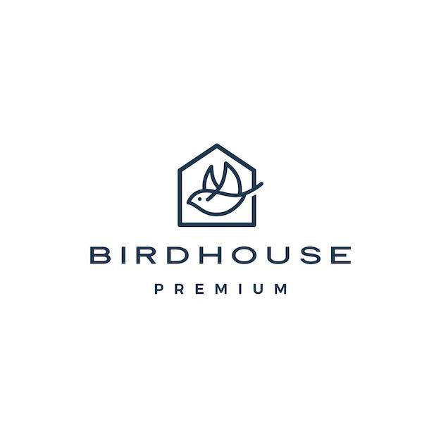 Logo De Maison D'oiseau Vecteur Premium